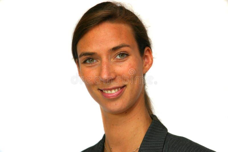 Donna sorridente attraente di affari immagini stock libere da diritti