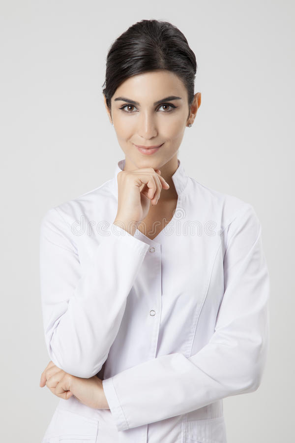 Donna sorridente del medico fotografia stock