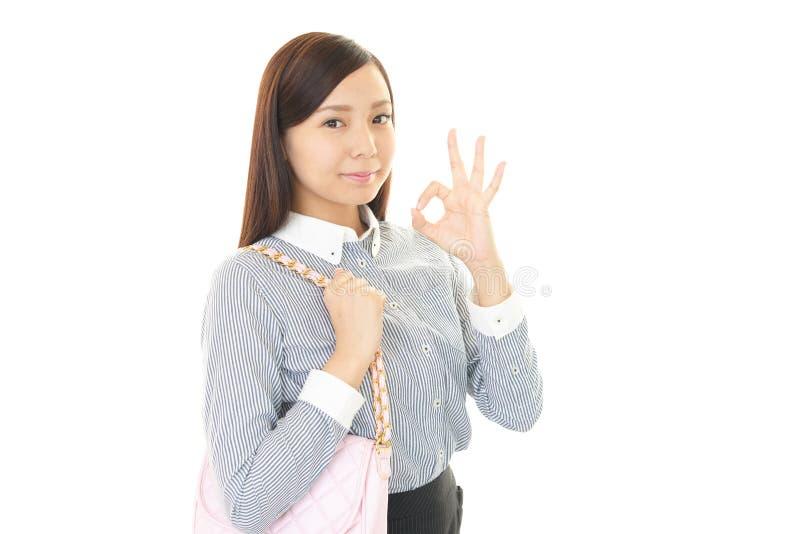 Donna sorridente di affari fotografia stock libera da diritti