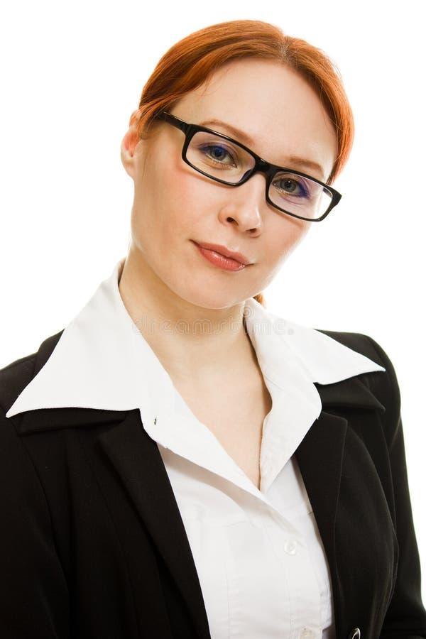 Donna sorridente di affari immagine stock libera da diritti