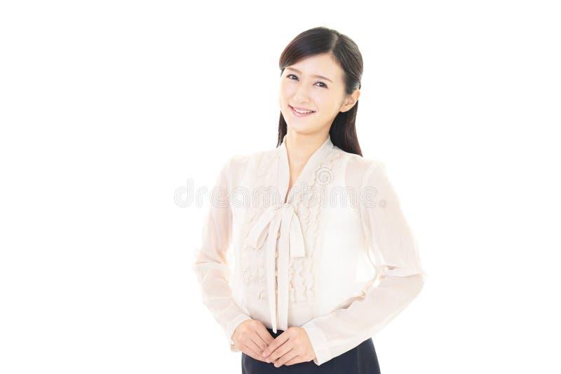 Download Donna sorridente di affari fotografia stock. Immagine di salute - 56880876