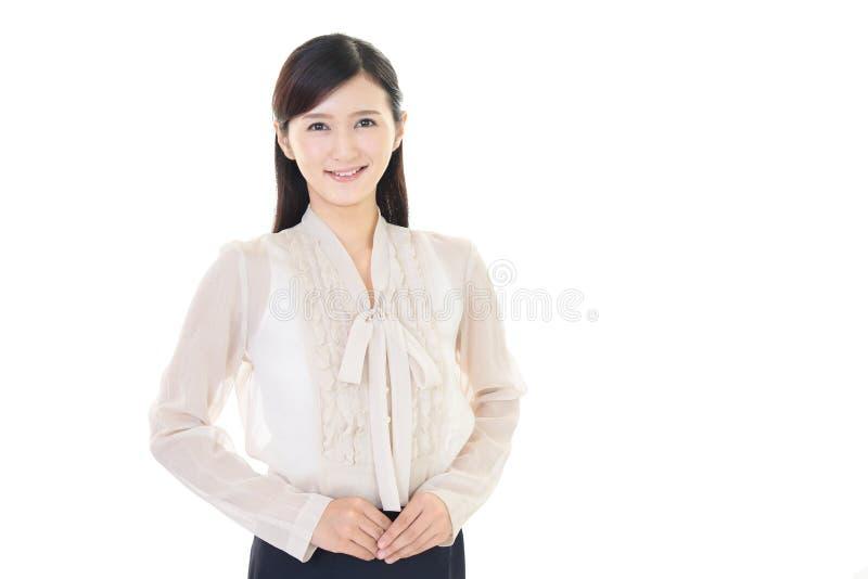 Download Donna sorridente di affari fotografia stock. Immagine di felice - 56880878