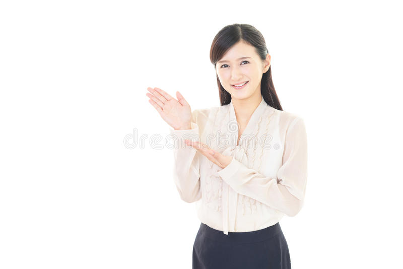 Download Donna sorridente di affari immagine stock. Immagine di signora - 56880887