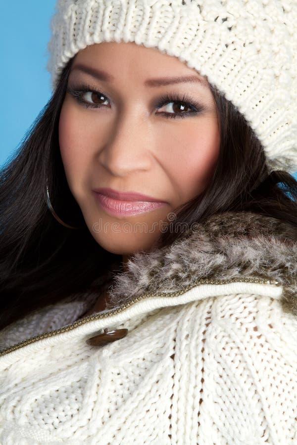 Donna splendida di inverno immagini stock