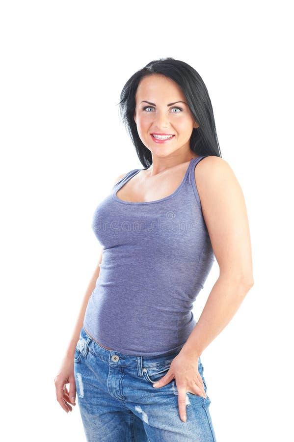 Donna sportiva piacevole fotografia stock