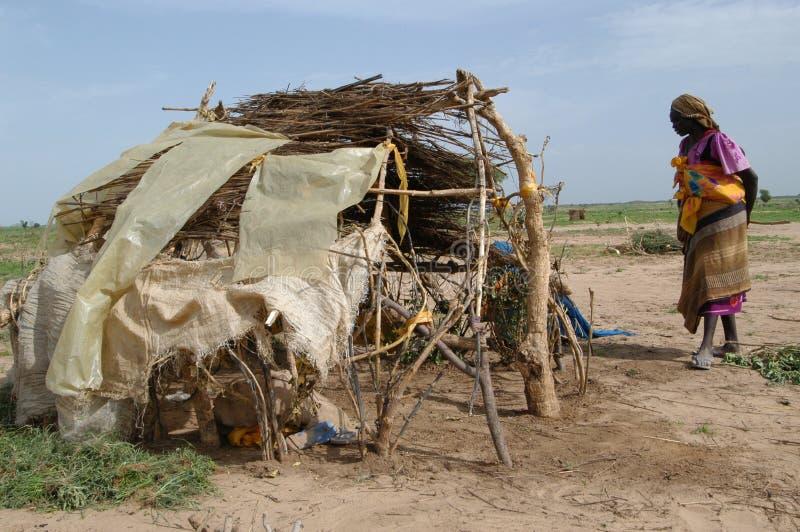 Donna spostata in Darfur fotografie stock libere da diritti