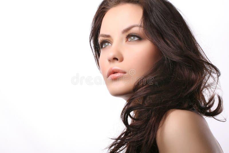 Donna su bianco immagini stock libere da diritti