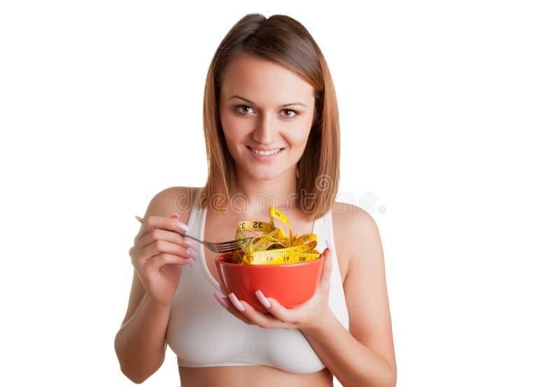 Donna su una dieta fotografie stock