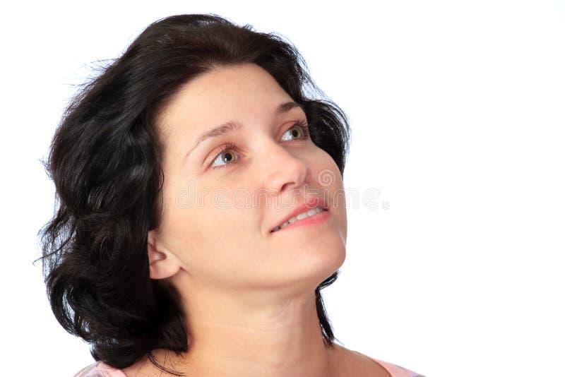 Download Donna Su Una Priorità Bassa Bianca Immagine Stock - Immagine di mano, fascino: 7315097