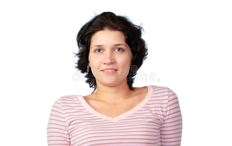Download Donna Su Una Priorità Bassa Bianca Immagine Stock - Immagine di capelli, fascino: 7315101