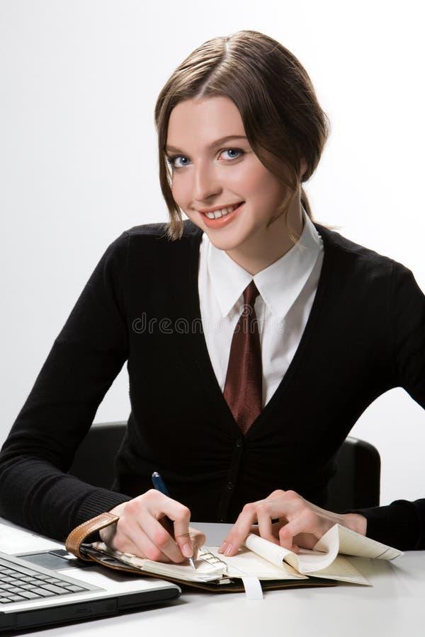 Donna sul lavoro fotografia stock