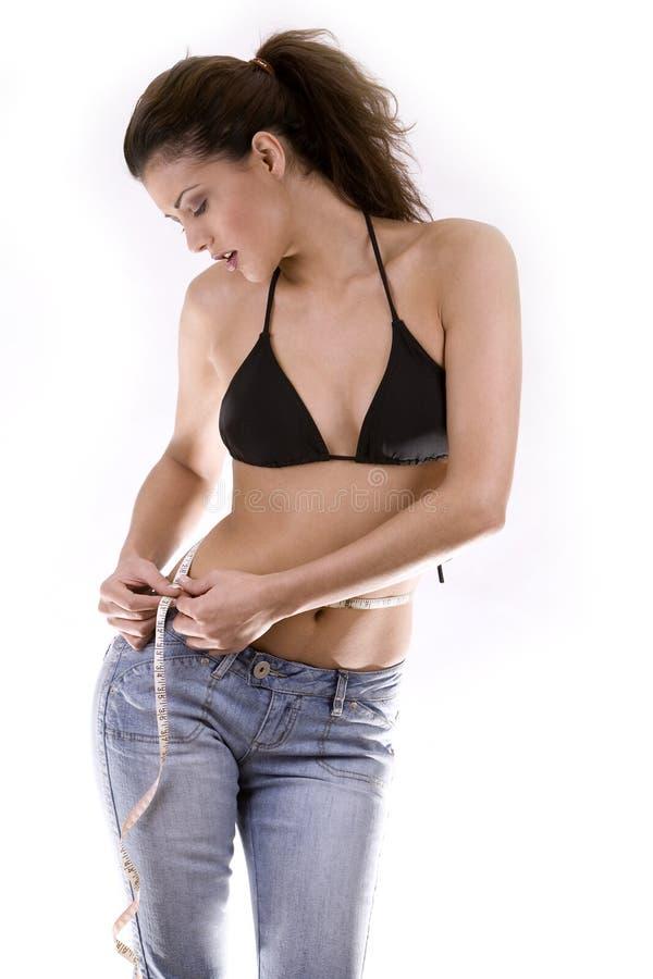 Donna sulla dieta fotografia stock