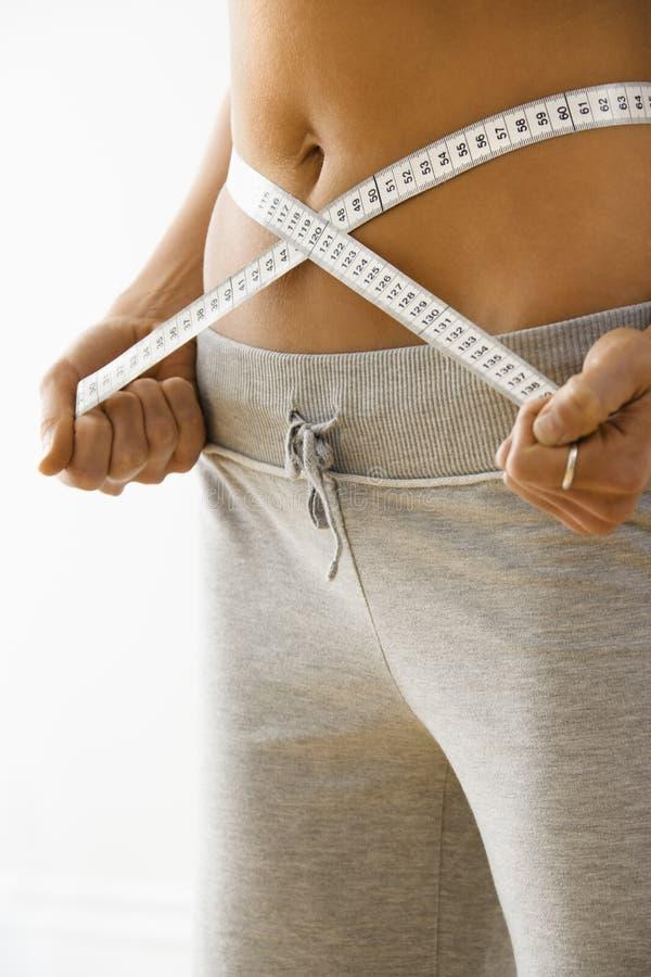 Donna sulla dieta fotografia stock libera da diritti