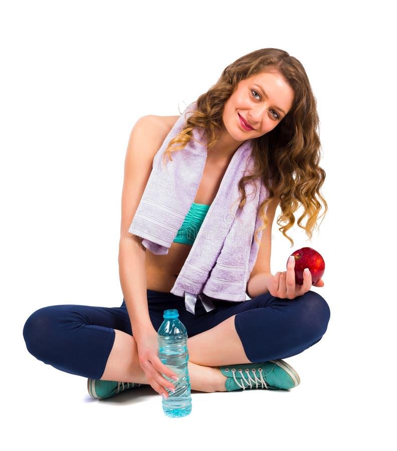 Donna sulla dieta per raggiungere il peso carente immagine stock libera da diritti