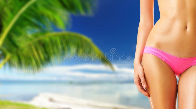 Download Donna sulla spiaggia immagine stock. Immagine di femmina - 55350651