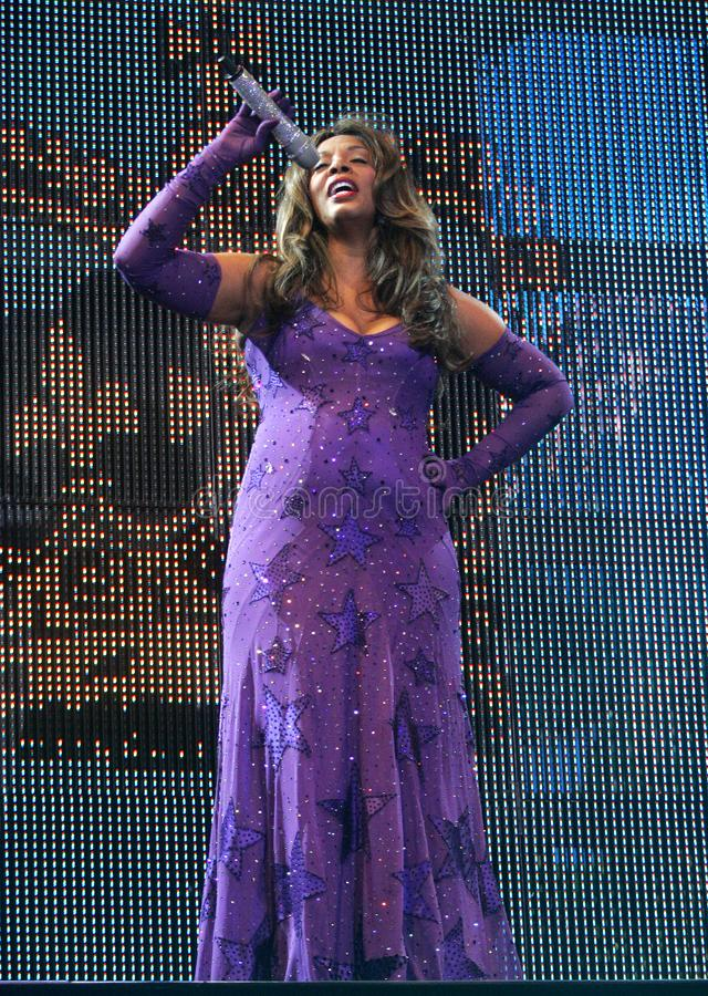 Donna Summer Performs no concerto fotos de stock royalty free