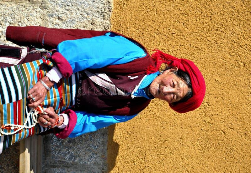 Donna tibetana immagini stock libere da diritti