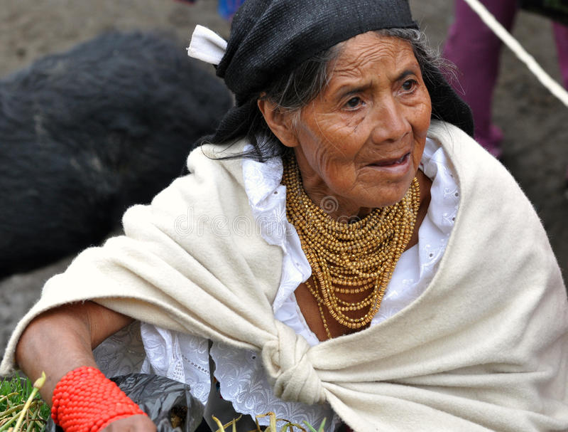 Donna tradizionale del Ecuadorian immagini stock
