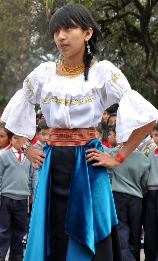 Donna tradizionale del Ecuadorian fotografie stock