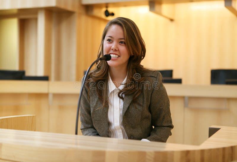 Donna in tribunale fotografia stock libera da diritti