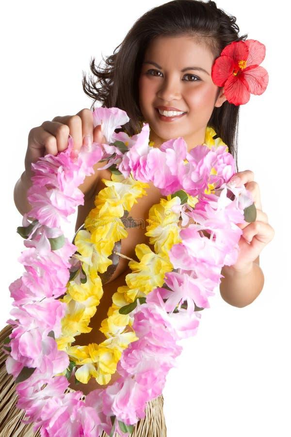 Donna tropicale dei leu del fiore fotografia stock libera da diritti