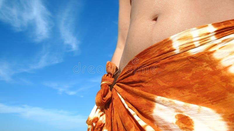Donna tropicale di estate fotografia stock libera da diritti
