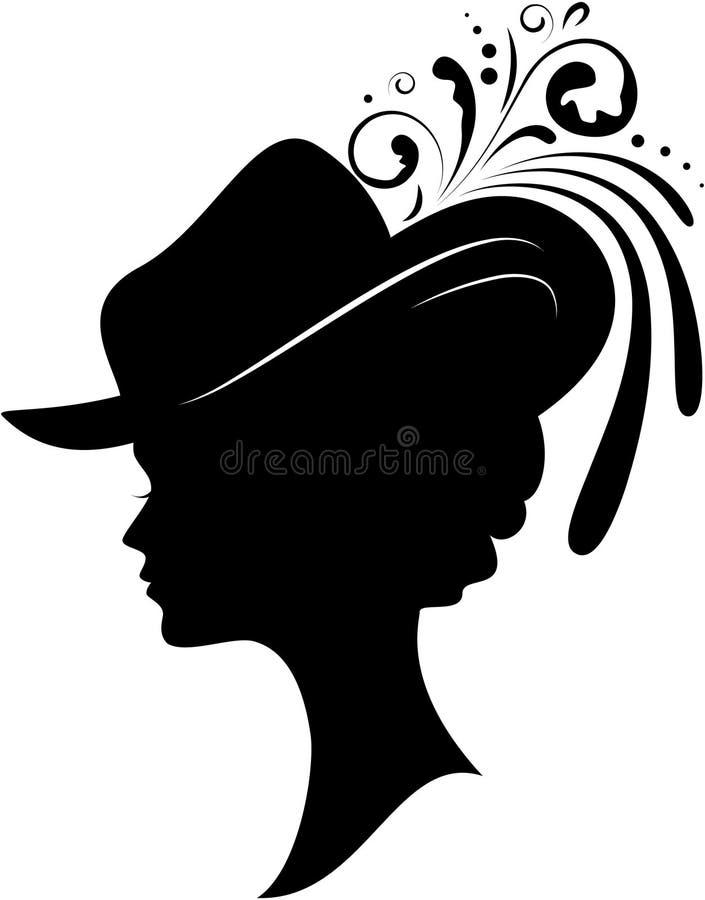 Donna in un cappello illustrazione vettoriale
