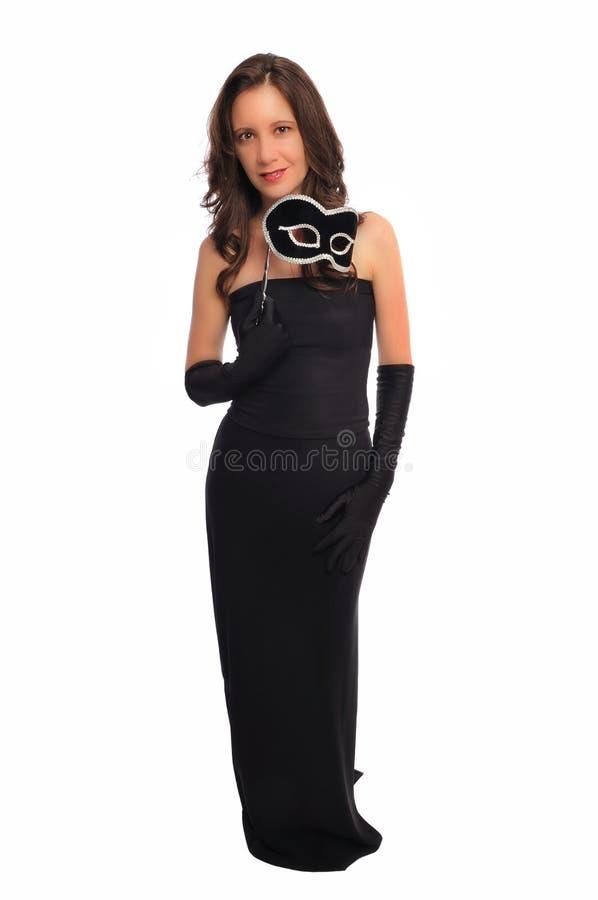 Donna in un vestito fotografia stock