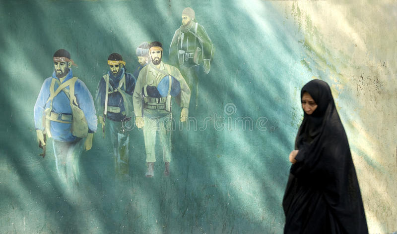 Donna velata a tehran Iran fotografie stock