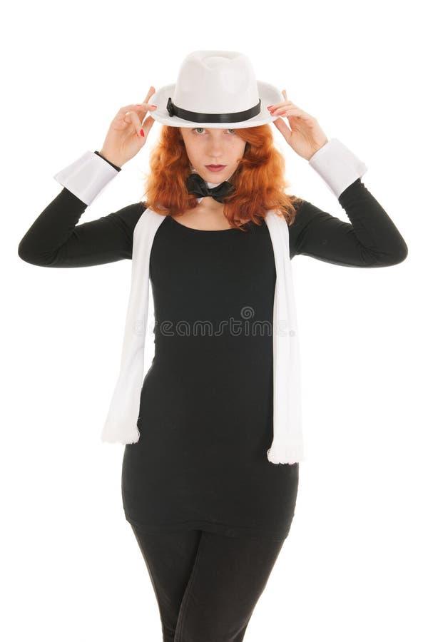 Donna vestita per il partito fotografia stock