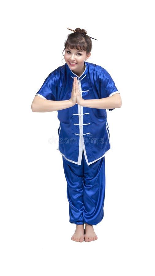 Donna in vestiti cinesi immagini stock