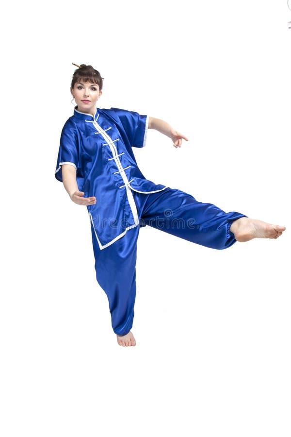 Donna in vestiti cinesi fotografie stock libere da diritti