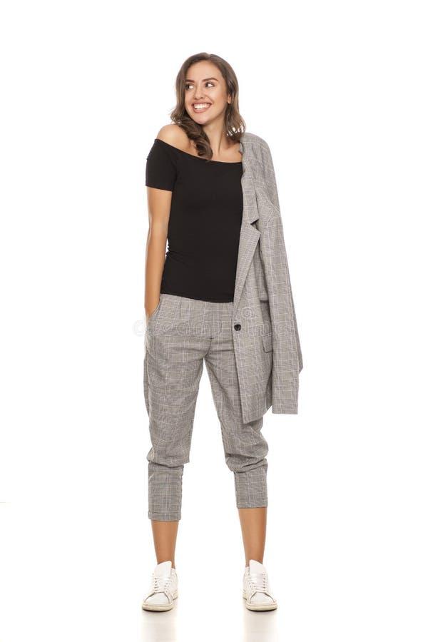 Donna in vestito casuale immagini stock libere da diritti
