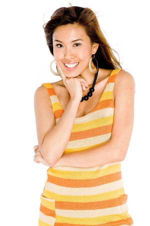 Donna in vestito da estate fotografia stock
