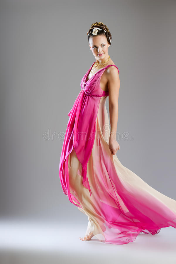 Donna in vestito da stile di Venezia fotografie stock