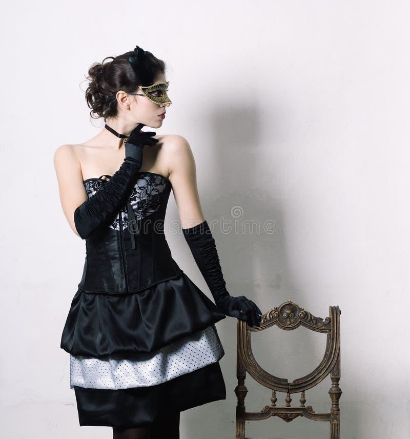 Donna in vestito operato immagine stock libera da diritti