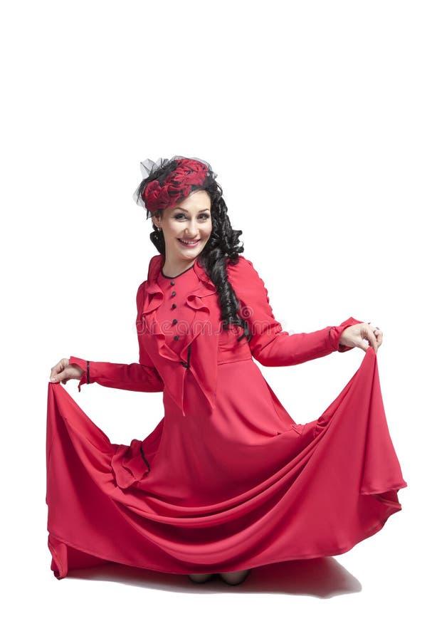 Donna in vestito rosso immagini stock libere da diritti