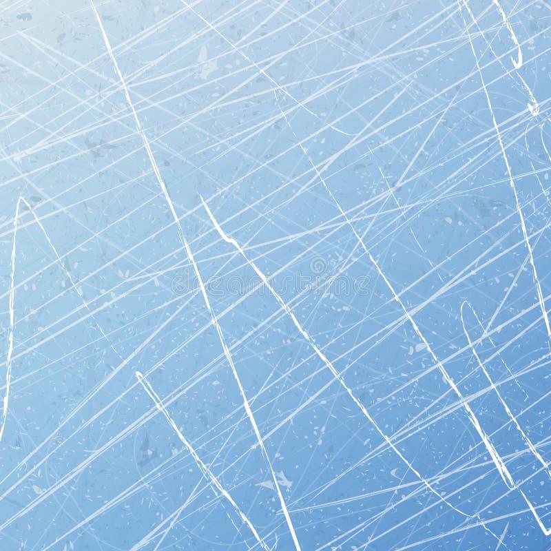 Donne à la glace une consistance rugueuse bleue Patinoire Fond d'illustration de vecteur illustration libre de droits