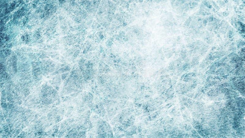 Donne à la glace une consistance rugueuse bleue Patinoire Fond de l'hiver Vue supplémentaire natur d'illustration illustration stock