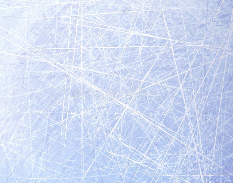 Donne à la glace une consistance rugueuse bleue Patinoire Fond de l'hiver Vue supplémentaire Fond de nature d'illustration de vec illustration libre de droits