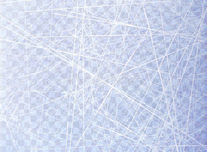 Donne à la glace une consistance rugueuse bleue Patinoire Vue supplémentaire Surface de nature D'isolement sur le fond transparen illustration de vecteur