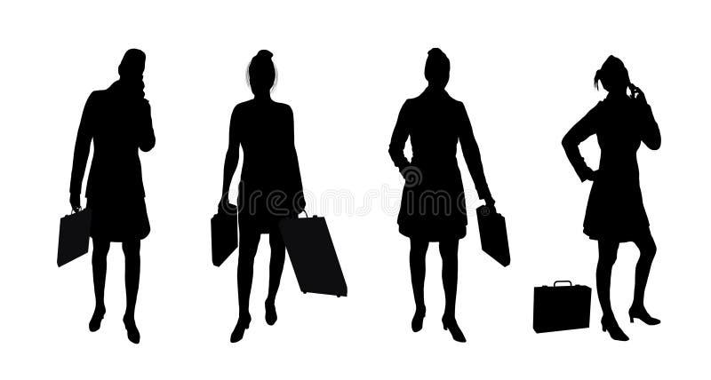 Donne 2 di affari illustrazione di stock