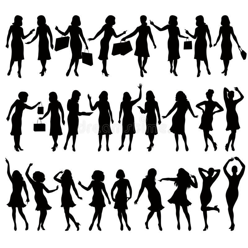 Donne illustrazione vettoriale
