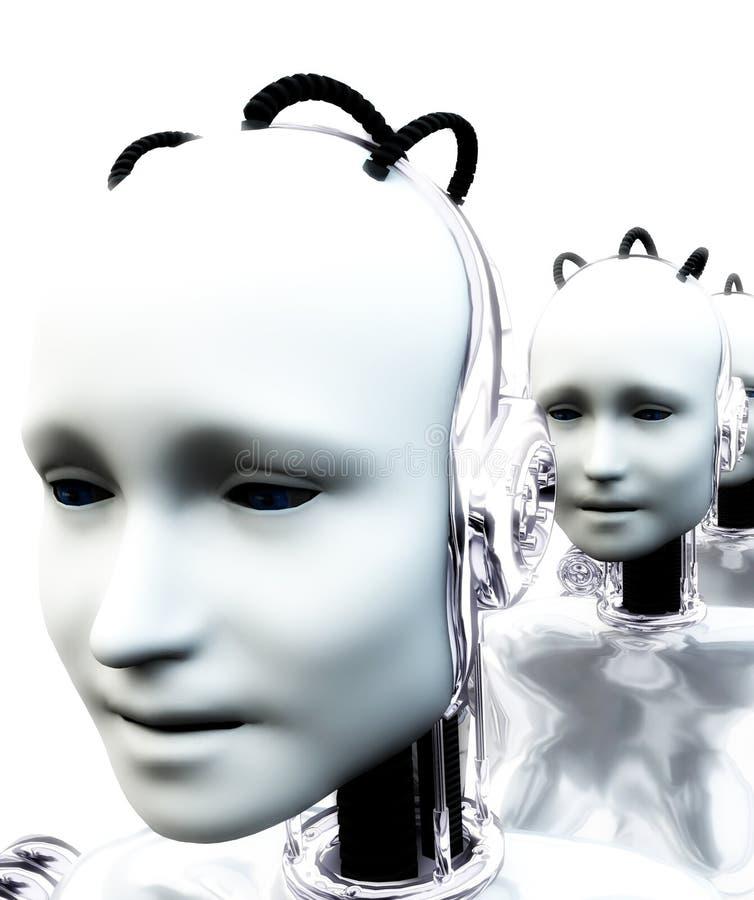 Donne 4 del robot royalty illustrazione gratis