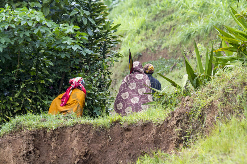 Donne africane - Ruanda fotografie stock