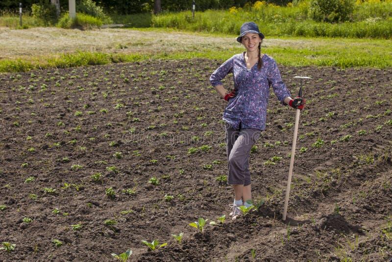 Donne al giardino fotografia stock libera da diritti