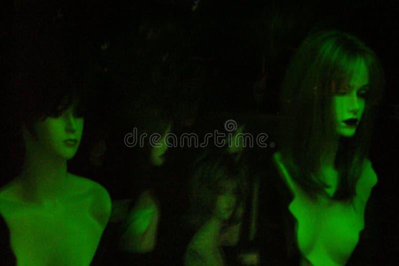 Donne al neon immagini stock libere da diritti