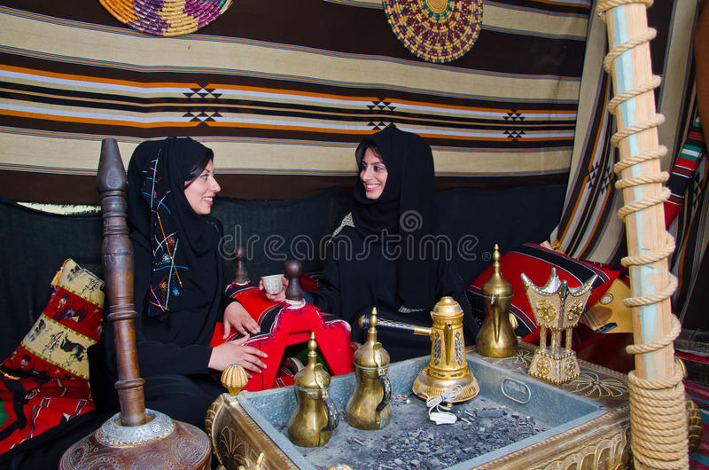 Donne arabe fotografie stock libere da diritti