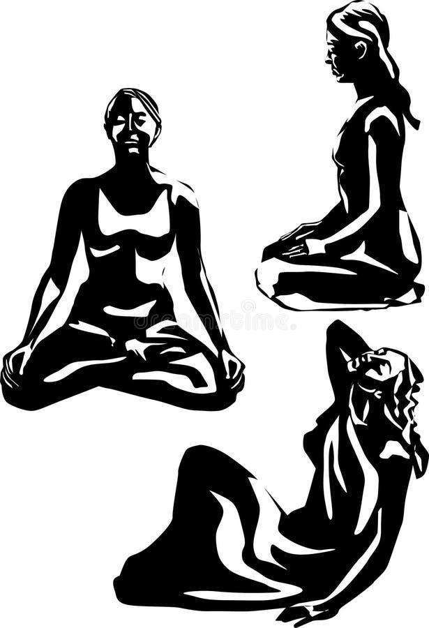 Download Donne in asana illustrazione di stock. Illustrazione di ragazze - 3881764