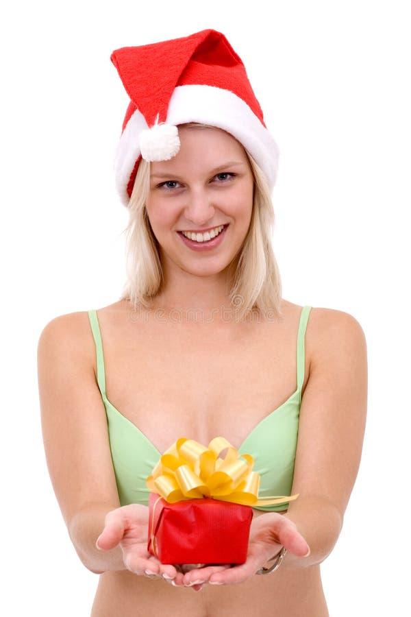 Donne bionde sorridenti in bikini fotografia stock libera da diritti